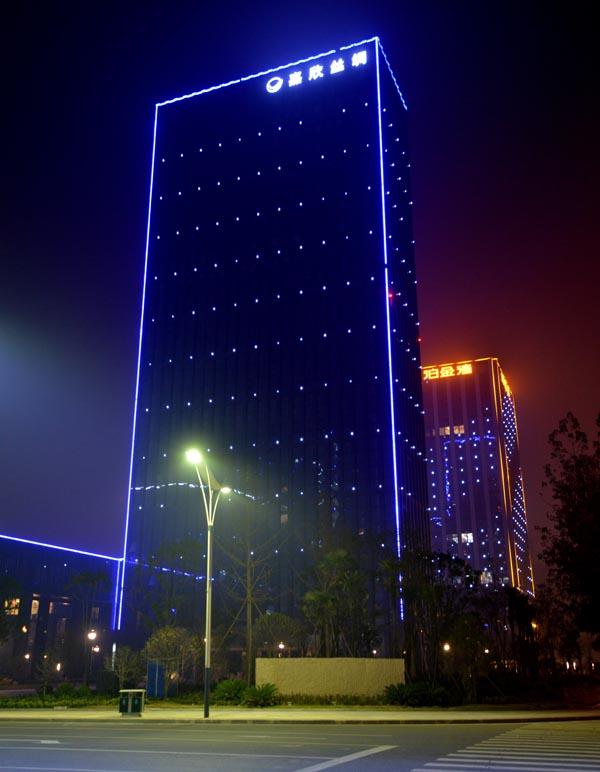 银行大楼亮化工程