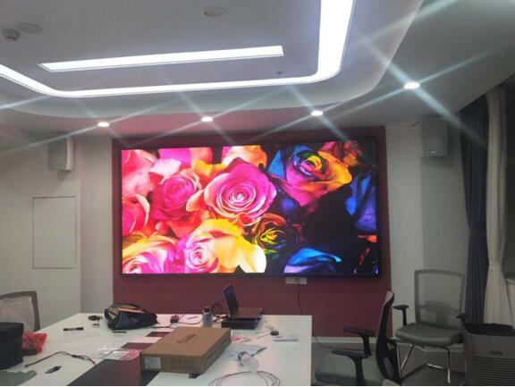 中国工商银行泰安总行15楼党建展厅P1.86全彩屏10平方